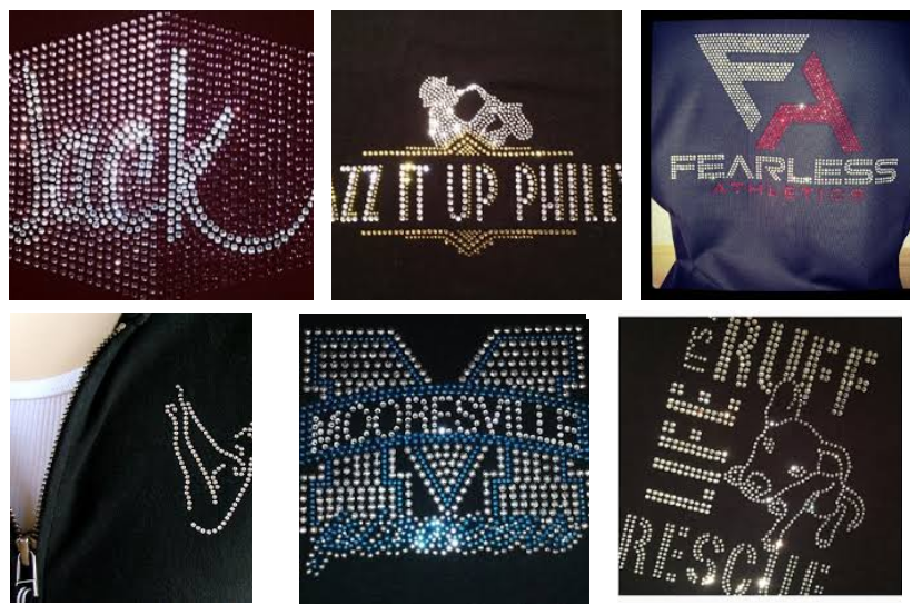 Custom rhinestone tees & bling shirts